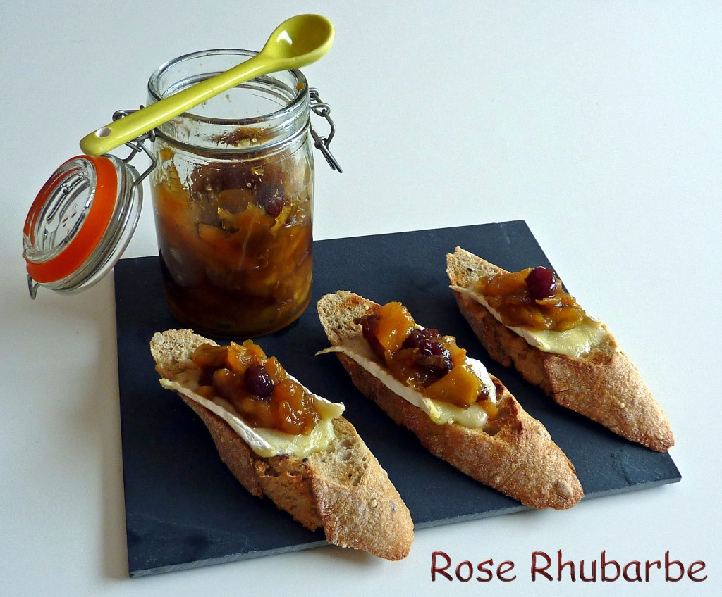 Rose rhubarbe by temp rence la recette du jour crostini for Chutney de pommes pour foie gras