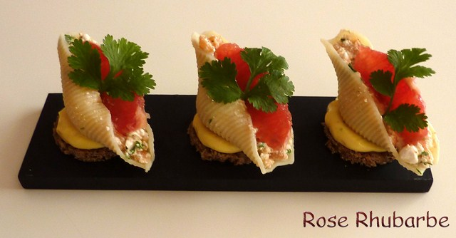 rose rhubarbe by temp rence la recette du jour conchiglie sur toast mayonnaise acidul e farcie. Black Bedroom Furniture Sets. Home Design Ideas