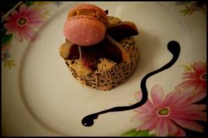 La recette du jour: Terrine de lentilles au foie gras à l'huile de truffe, magret séché et son macaron foie gras dans Entrées noel10-640x480-300x200