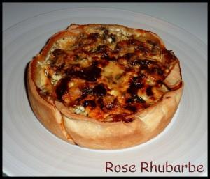 La recette du jour: Tarte aux champignons de Paris au roquefort dans Entrées p10407915_modifie-1-300x257