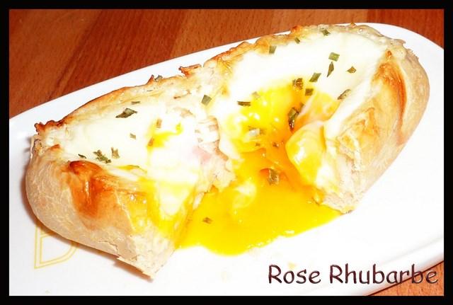 rose rhubarbe by temp rence la recette du jour oeuf cocotte dans son petit pain. Black Bedroom Furniture Sets. Home Design Ideas